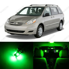 13 x Green LED Interior Lights Package For 2004 - 2010 Toyota Sienna