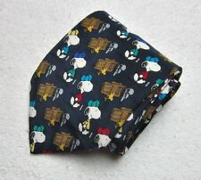 "Snoopy Peanuts Golf Necktie Tie ""Good Caddies Are hard To Find"" 100% Silk"