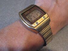 VINTAGE MID CENTURY MOD HIPSTER RARE 1977 QUARTZ  LC LIGHT ALARM LCD SEIKO WATCH