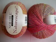 Nob Hill Naturescape 100% wool  yarn, Spring Spray , lot of 2 (225 yds ea)