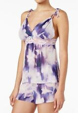 Women's Linea Donatella Violet Floral Bellina Printed Cami And Shorts PJ's XL
