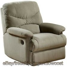 Sage Contemporary Plush with Padded Full Ottoman Recliner CHAIR Microfiber NEW