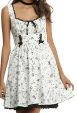 GOTHIC ROCKABILLY STEAMPUNK ROSES AND BUGS FIT FLARE PARTY DRESS SZ M