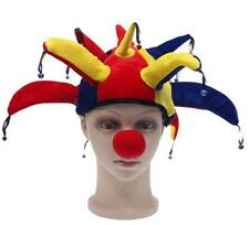 Funny Clownish Colors Jester Clown Costume Hat Mardi Gras Halloween Party Props