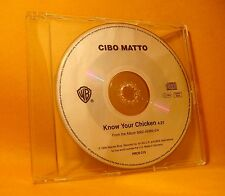 PROMO MAXI Single CD Cibo Matto Know Your Chicken 1TR 1996 Hip Trip Hop RARE !
