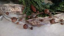 """NWT 48"""" Rusty Jingle Bell  Christmas Swag GARLAND Rustic Cabin Country Decor"""
