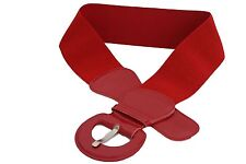 New Women Fashion Belt Hip High Waist True Red Elastic Buckle Plus Size M L XL