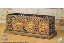 MOROCCAN FILIGREE LED CANDLE SET.   BRONZE EFFECT
