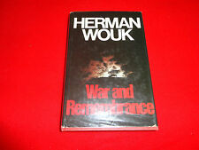 WAR AND REMEMBRANCE  BY  HERMAN WOUK ( LARGE HARDBACK BOOK )^