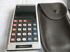 Calculator hand held COMMODORE GL997R AC& rechargable VINTAGE + case .. 4
