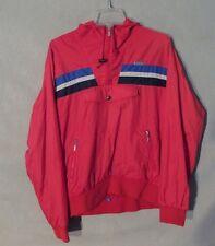 Descente Jacket Coat Red & Blue 1/2 Zip Men's MediumM Inv#Z8948