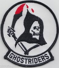 US Navy VF-142 Fighter Squadron 142 Ghostriders Embroidered Patch Badge *
