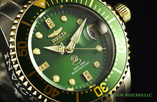 Invicta 38mm Diamond Grand Diver Automatic Two Tone Green Dial 300M SS Watch