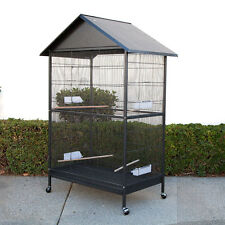 Large Bird Cage Parrot Aviary with Roof W44.5 x D29 x H67.5