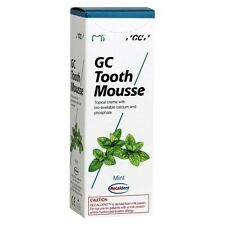 GC TOOTH MOUSSE MINT TOPICAL TOOTH CREAM WITH RECALDENT 1 TUBE OF 40 GM