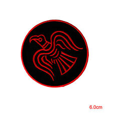 Odin Raven Iron On Patch- Embroidered Viking Norse Mythology Badge Applique Sew