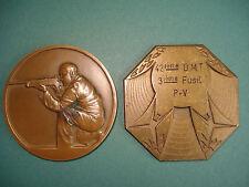2 Médailles PRIX CONCOURS de TIR  Bronze Medal