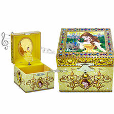 Authentic Disney Parks Store BELLE Beauty And The Beast Musical Jewelry Box NEW