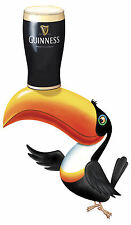 Guinness toucan large contoured vinyl sticker decal 600mm x 375mm