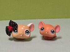 Littlest Pet Shop 2 Mice And With 1 Cute Accessory Bow