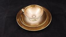 Mitterteich Bavaria, gold teacup, saucer, and plate
