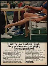 1973 CONVERSE Coach & Jack Purcell Tennis Shoes - Sexy Woman Footsie VINTAGE AD