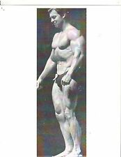 bodybuilder LARRY SCOTT Getting Ready To Pose Muscle Photo B&W #37