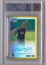CHRIS SALE 2010 BOWMAN CHROME GOLD REFRACTOR AUTOGRAPH RC /50 AUTO ROOKIE BGS 9!