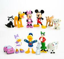 12 pc Sets Mickey Figures Minnie Mouse Donald Duck Daisy Duck PVC Cake Toppers