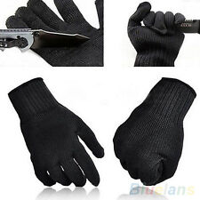 1 PAIR PROTECTIVE STAINLESS STEEL WIRE SAFETY CUT METAL BUTCHER GLOVES PROTECTOR