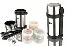 Thermos 1.5L Stainless Steel Travel Lunch Box Food Jar Set Spoon & Fork BOSCO