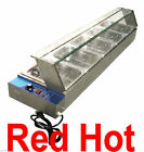 New Fma Omcan Commercial 5 Well Bain Marie Buffet Line Food Warmer Server 18271