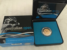 2012 $2 AUSTRALIAN OPEN MENS CHAMPION SELECTIVELY GOLD PLATED SILVER PROOF COIN