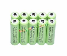 10 AA 3000mAh Ni-MH rechargeable battery MP3/Cell green