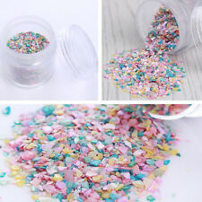 10g/Box Nail Art Sequins Crushed Shell Powder Mixed Color Decor Tips for UV Gel
