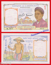 FRENCH INDOCHINA INDO-CHINA 1 Piastre 1946 Pick 54c  SC /  UNC