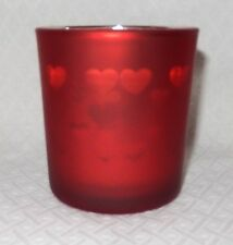 YANKEE CANDLE RED FLICKERING HEARTS VOTIVE / TEALIGHT HOLDER HARD TO FIND NEW