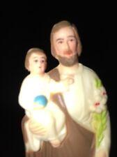 """Vintage CATHOLIC 2 3/4"""""""" Painted PLASTIC Jesus ST JOSEPH DASHBOARD SAINT Magnet"""