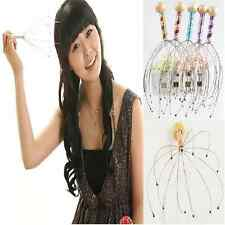 Simple Dazzle Color Head Neck Octopus Scalp Massager Massage Stress Relax Tool