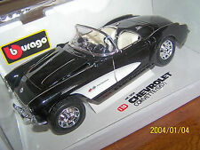 1957 CHEVROLET CORVETTE CONVERTIBLE BURAGO 1:18th SCALE DIECAST BLACK