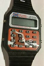 ©1981 DuKeS oF hAzZaRd CALCULATOR WaTcH -N.O.S only ones on ebay -RaRe