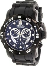 Invicta Men's Pro Diver 6986 Black Rubber Swiss Chronograph Watch