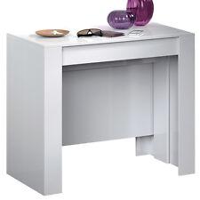 Tavolo consolle allungabile 10 posti multi posizione bianco casa cucina