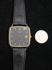 Lanvin / Michel Herbelin Men's Watch Gold Seal Leather France Swiss 7 Jewel