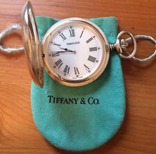 Tiffany & Co. .925 Sterling Silver Case Pocket Watch RARE!!
