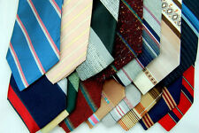 100 NECKTIE LOT Vintage NARROW 60/70'S MEN NECK TIE STRIPES Quilt Neck Tie Tie