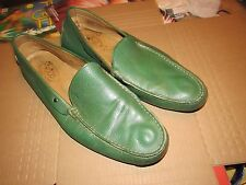 MENS TOD'S MADE IN ITALY LEATHER DRIVING MOCCASINS SIZE 13 US 12 UK GREEN