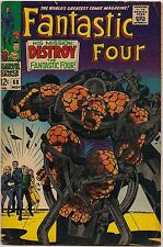 Fantastic Four #68-71 (Marvel 1968-69) avg. VG/FN: Mad Thinker turns Thing mad