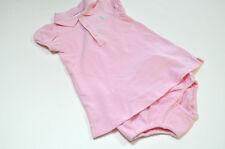 Ralph Lauren Girls Blue Pony Pink Dress Shirt Sz 6 m NWT