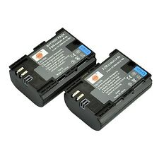 DSTE 2x LP-E6 LP-E6N Rechargerable Li-ion Battery for Canon EOS 5D Mark II EO...